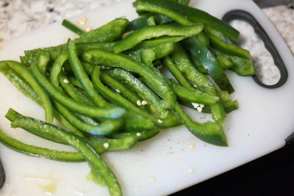 sliced-green-pepper