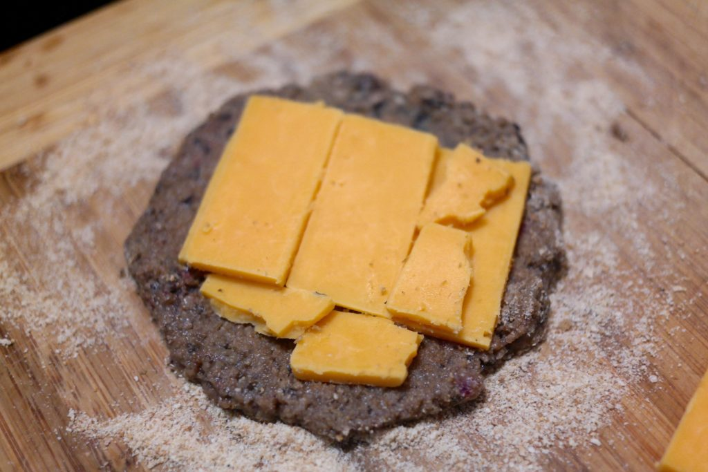 with cheese